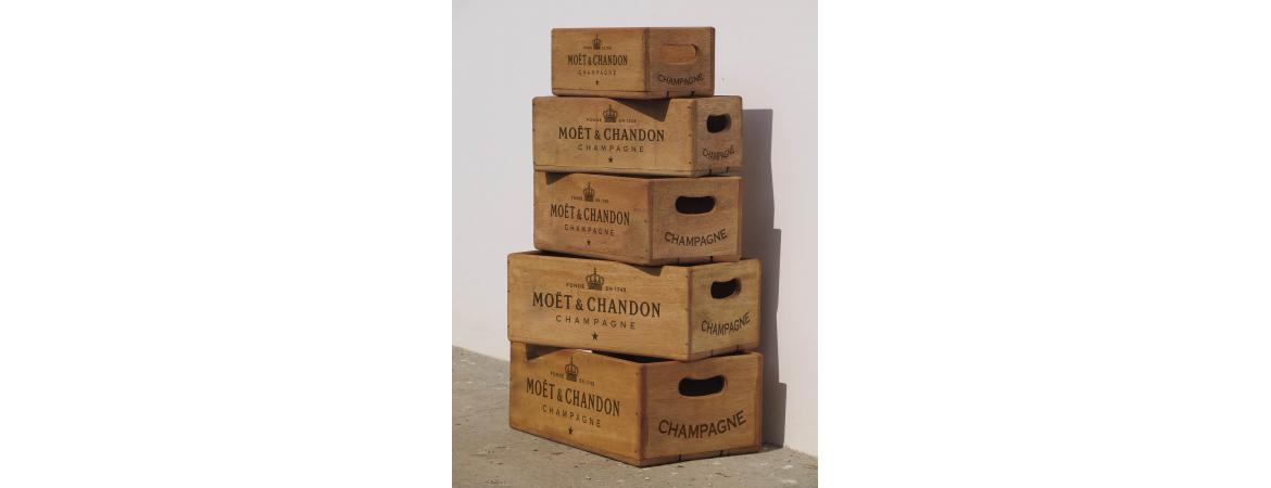 Set of 5 Vintage Moet Nesting Boxes