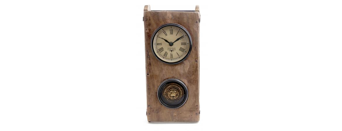 Upcycled Brick Mould Clock with Pendulum