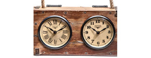 Upcycled Brick Mould Dual Dial Clock