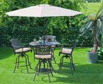 The Lisburn 4 Seat Outdoor Aluminium Garden Bar Set