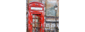 3D Metal Telephone Box Painting