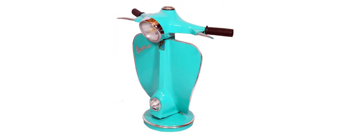Vespa Table Lamp- (reclaimed original parts)
