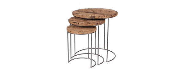 Set of 3 Wooden Nesting Tables