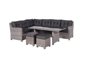 Brittany Rattan 5 Piece Dining Set- Willow