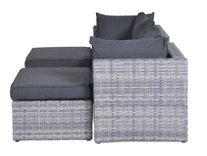Leon Rattan- Modular Lounging Set- Grey Or Natural