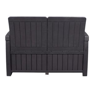 Denver Storage Bench- Black And Cream