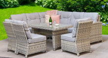 Load image into Gallery viewer, Miami rattan- Corner Sofa- Dining Set- Grey