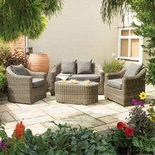 Load image into Gallery viewer, Burley Rattan- Two Seater Sofa Set- Grey