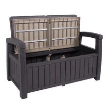Load image into Gallery viewer, Denver Storage Bench- Black And Cream