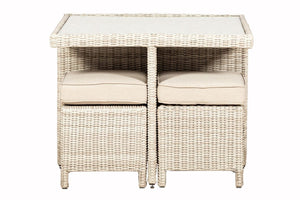 Tuscany 4 seat Cube Set- In Cream