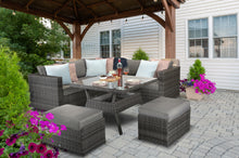 Load image into Gallery viewer, Manhattan Rattan- Square Dining Set- Grey