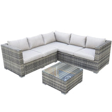 Load image into Gallery viewer, Hampshire Rattan- Square Corner Sofa Set- Grey