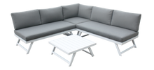 Load image into Gallery viewer, Andorra Aluminium- Corner Lounge Set- White & Grey