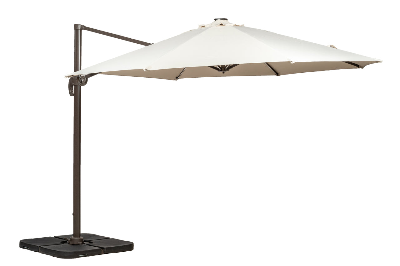 Ivory 3.5m Led Cantilever Parasol- Grey Pole