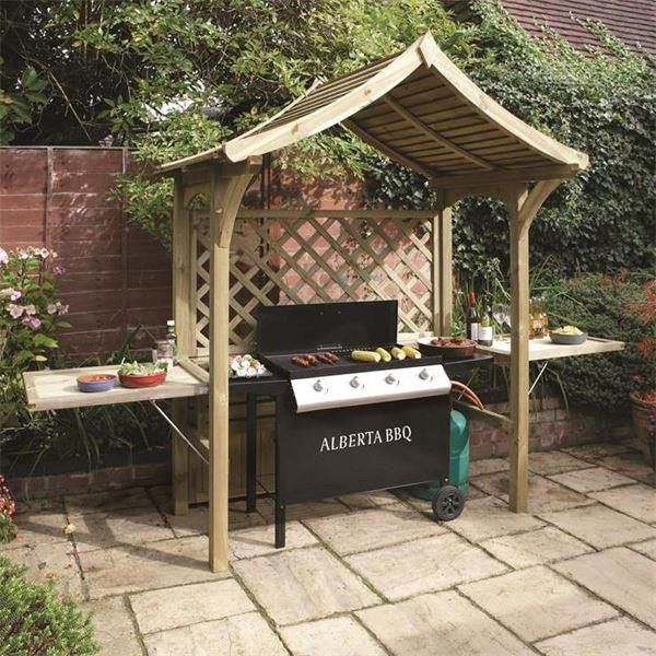 The Bideford Wooden Garden BBQ Shelter