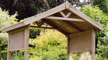 Load image into Gallery viewer, The Snug Wooden Garden Arbour END OF JULY AVAILABILITY