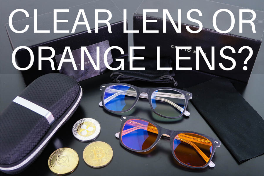 Clear Lens, Orange Lens, or Both? - Blue Blocking Computer Glasses