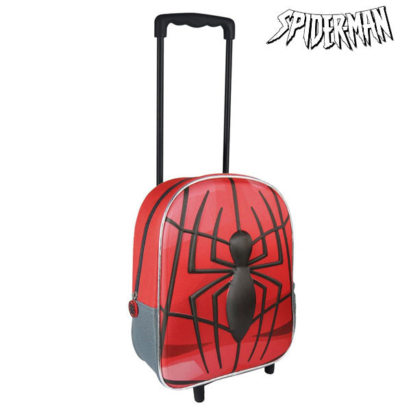 3D School Bag with Wheels Spiderman 8010 - Marinette Store ropa infantil