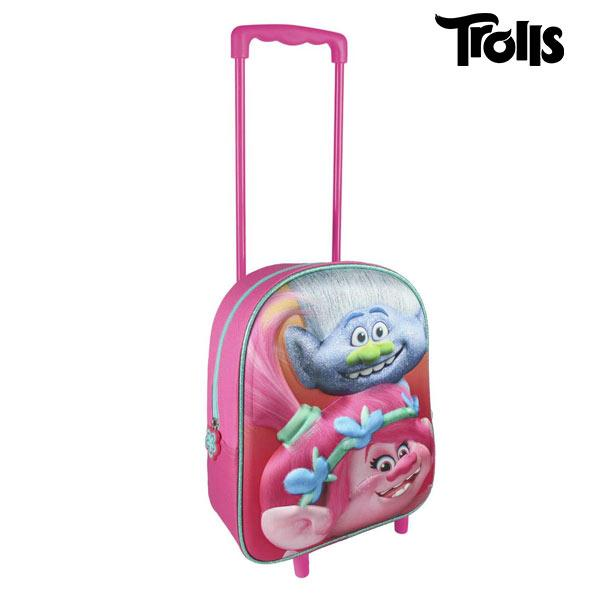 3D School Bag with Wheels Trolls - Marinette Store ropa infantil mochila escolar