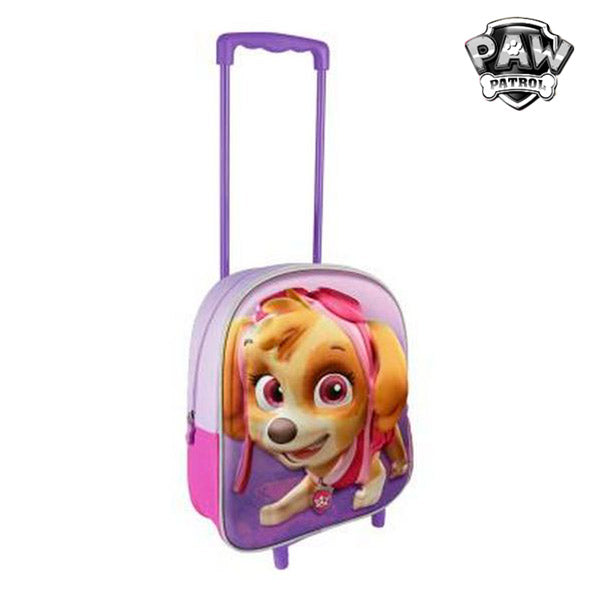 School Rucksack with Wheels The Paw Patrol 3486