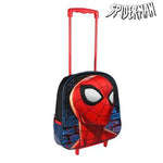 3D School Bag with Wheels Spiderman 937 - Marinette Store mochila