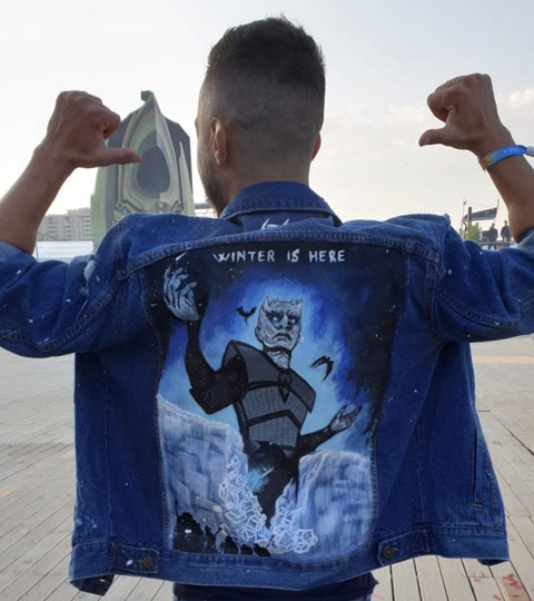 NIGHT KING HAND-PAINTED DENIM JACKET
