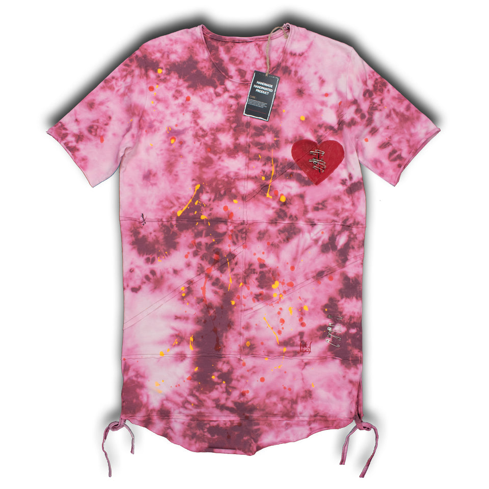 Pink Tie Dye/Hand Painted Shirt