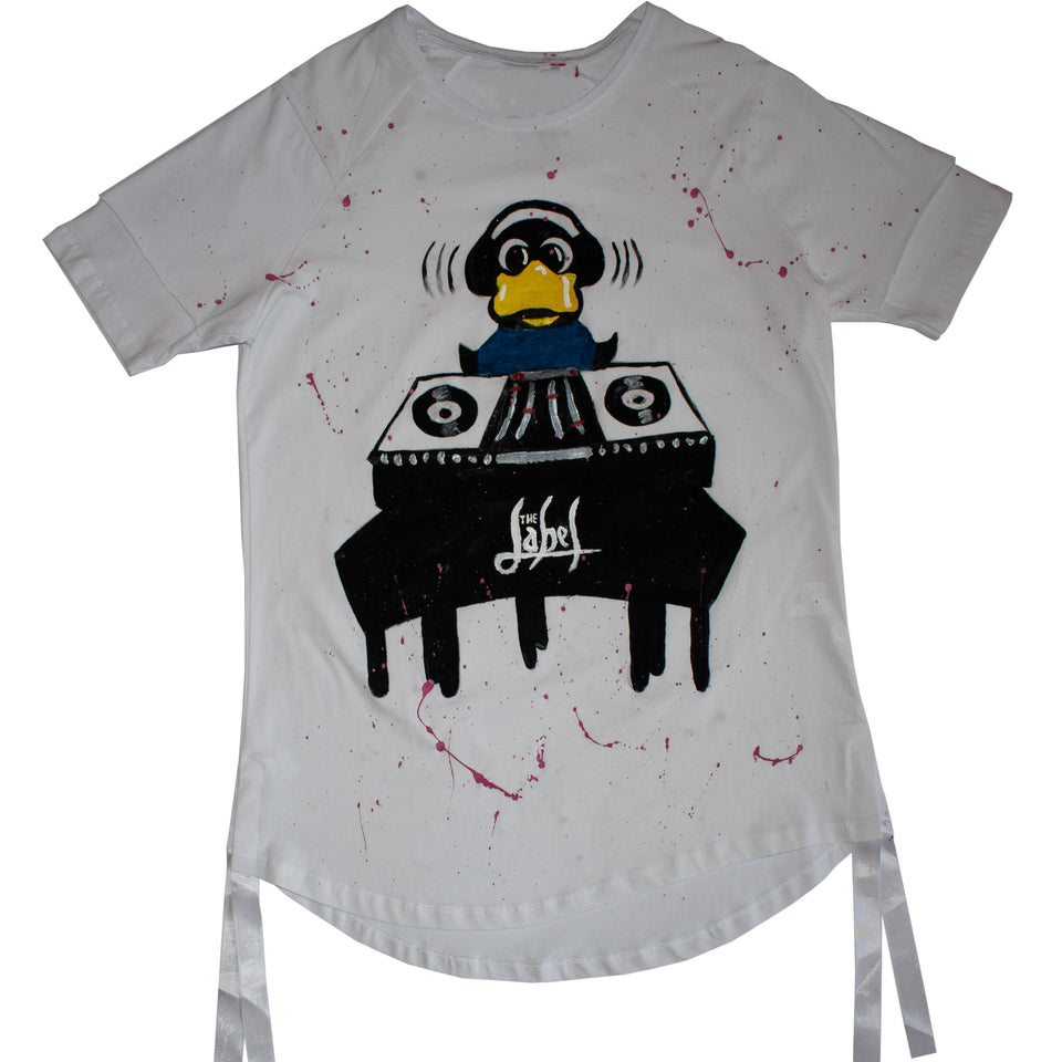 DJ DUCK HAND-PAINTED TSHIRT