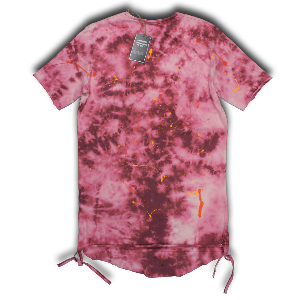 one0one HEARTBROKEN TIE DYE/HAND PAINTED SHIRT