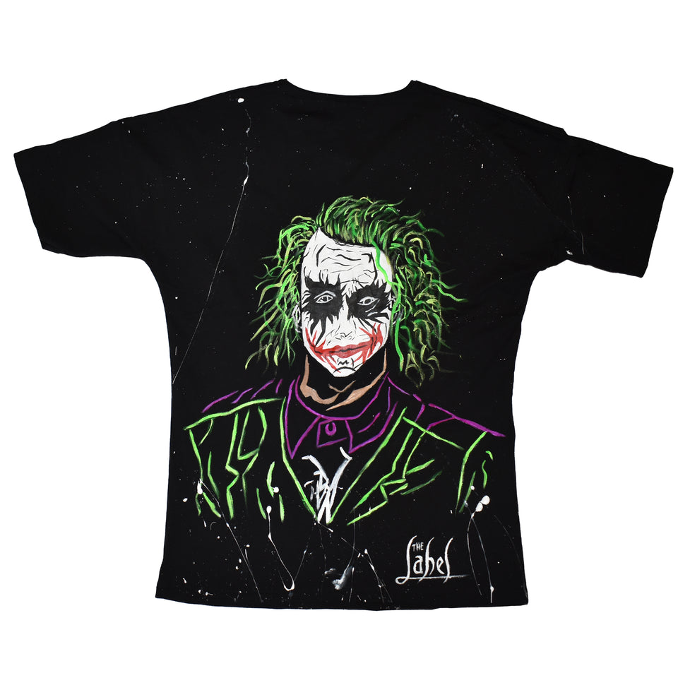 JOKER HAND PAINTED  T-SHIRT