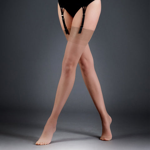 Stockings Plain Leg/Plain Top Champagne