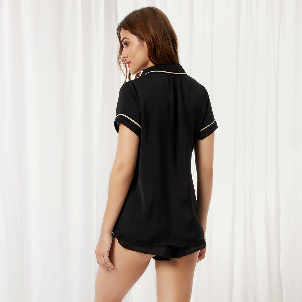 Kara Shirt and Short Black