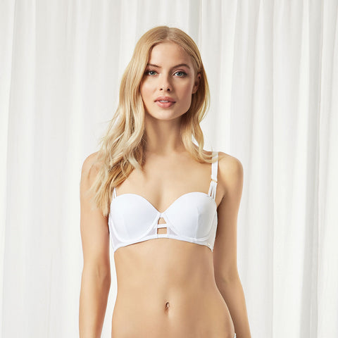 Laura Balcony Bra White