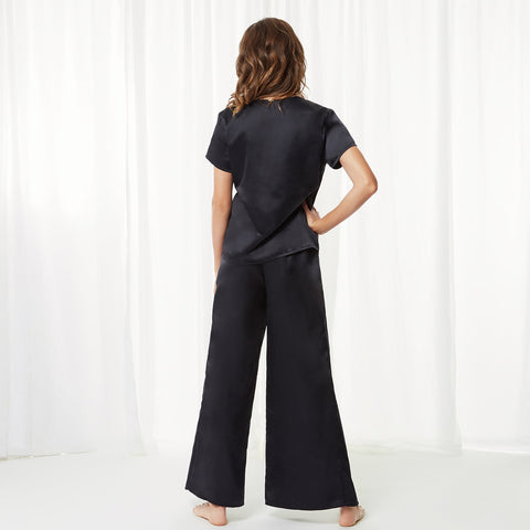 Adeline Shirt and Trouser Set Black