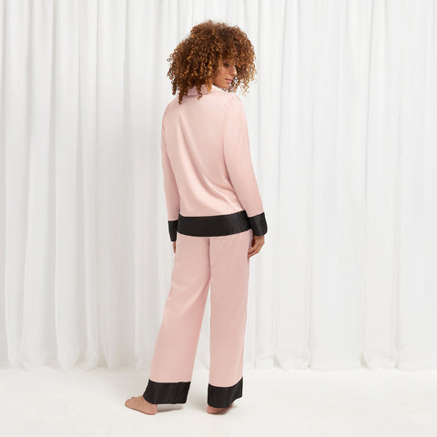 Drew Shirt and Trouser Set Rose Dust/Black