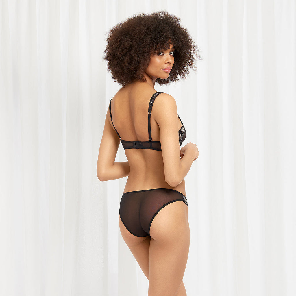 Lina Brief Black/Rose Dust