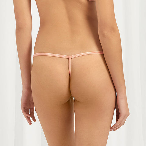 Aurora Thong Terracotta/Black