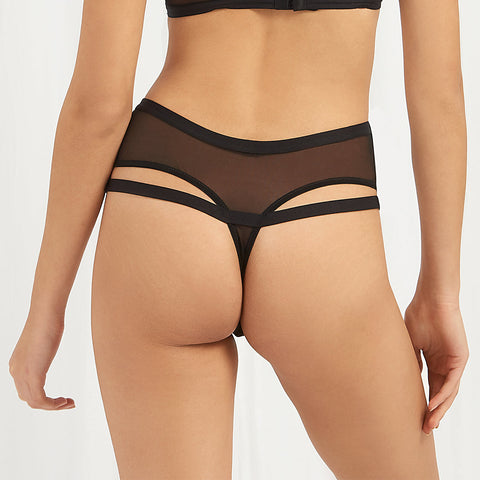 Marllie High Waist Thong Black