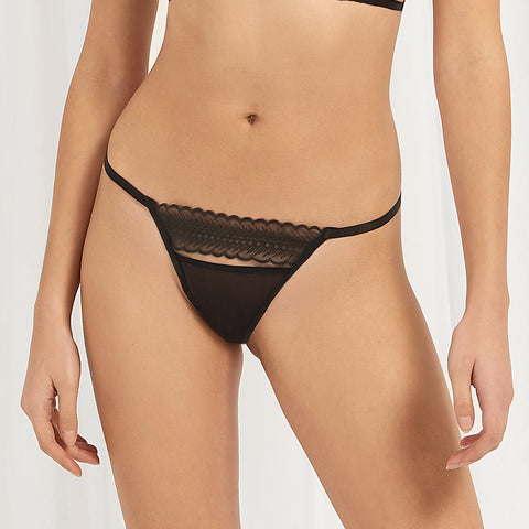 Ornella Thong Black
