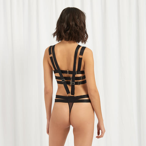 Rani Harness Thong Black