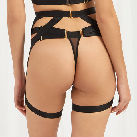 Rani Thigh Harness Black