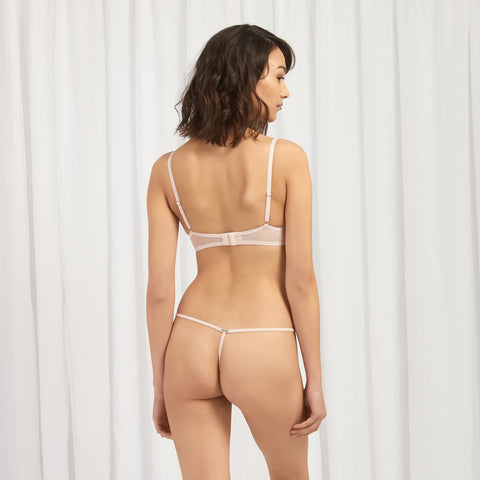 Priscilla Harness Thong Pale Pink