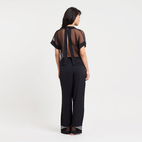 Richmond Top and Trouser Set Black