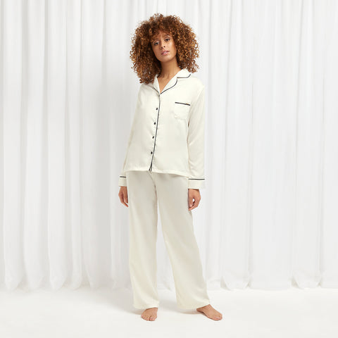 Claudia Shirt and Trouser Cream