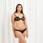 Nova Closed Bra Black