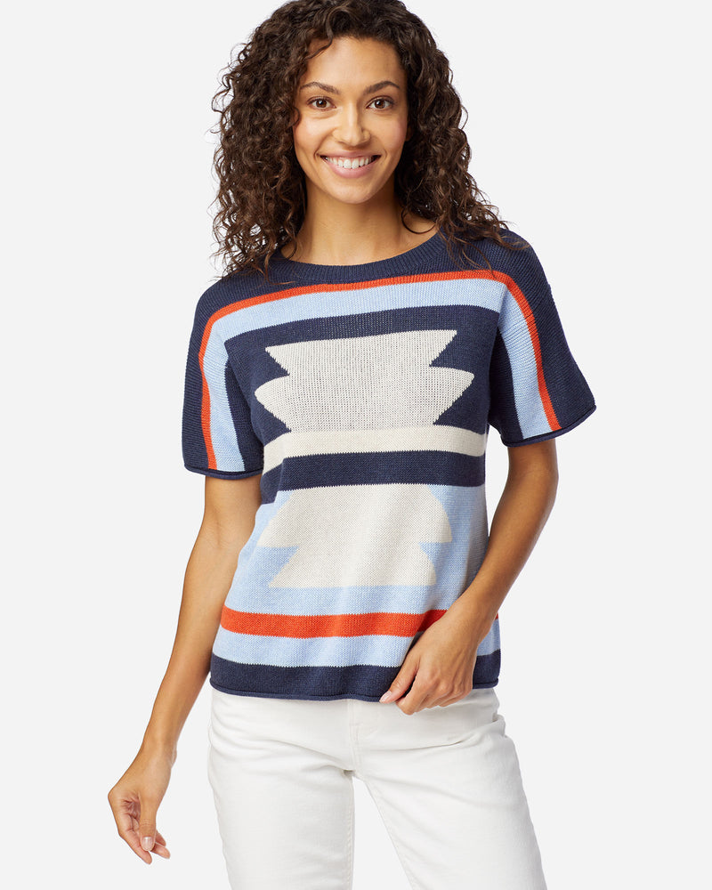 Graphic Shortsleave Sweater