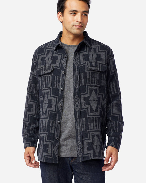 Beach Shirt Black Grey Harding