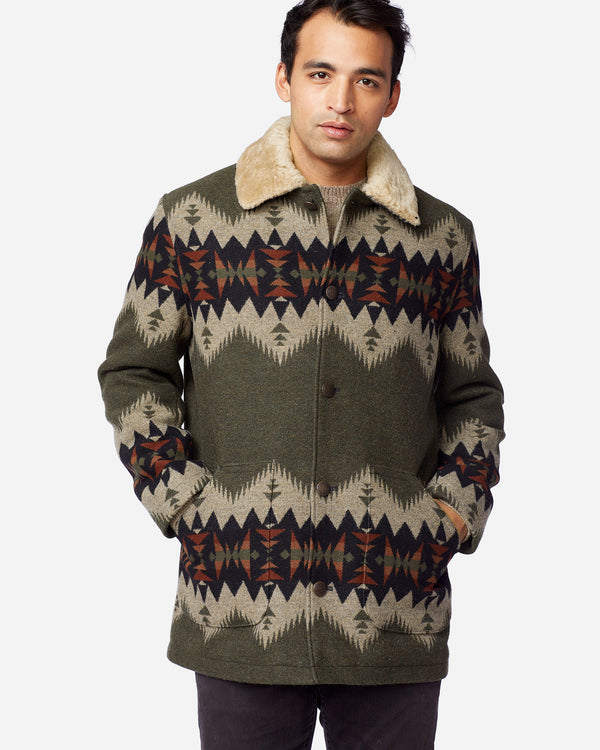 Brownsville Coat Olive Mix Sonora