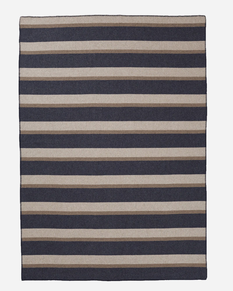 Eco-Wise Twin Bed Blanket Midnight Navy Stripe
