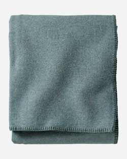 Eco-Wise Wool Bed Blanket Shale Blue